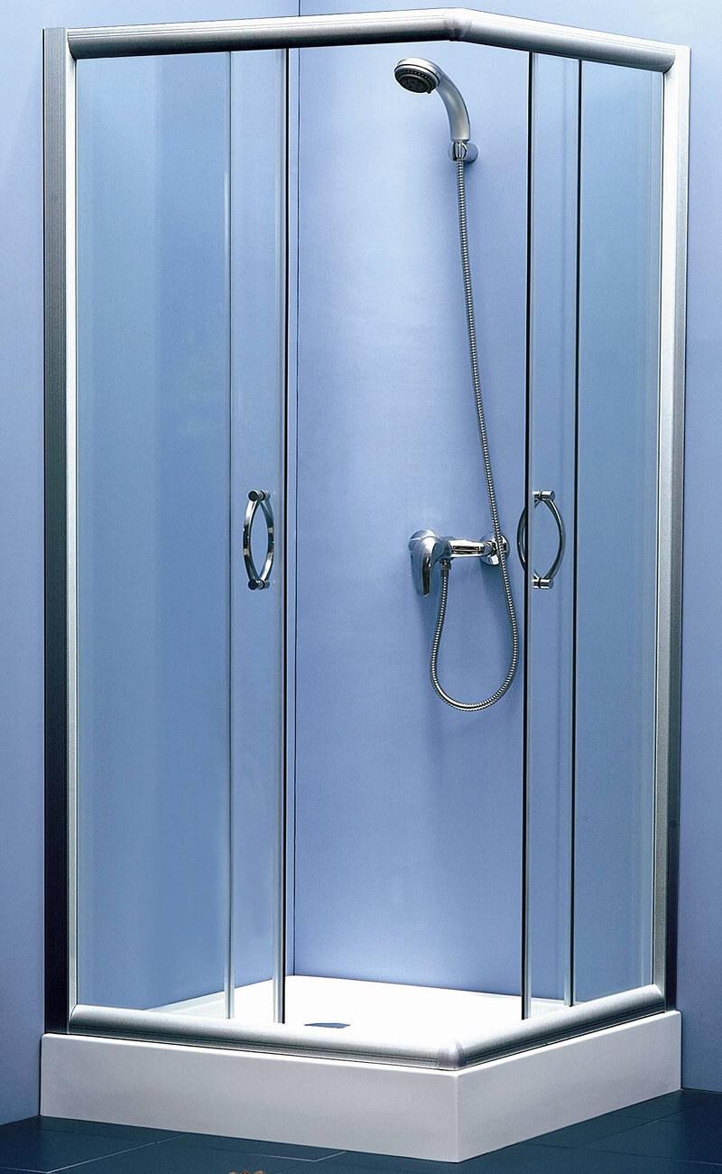 עיצוב מקלחון הזזה ייחודי מזכוכית